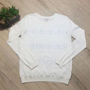 Joie very light knit crochet mix sweater size XS
